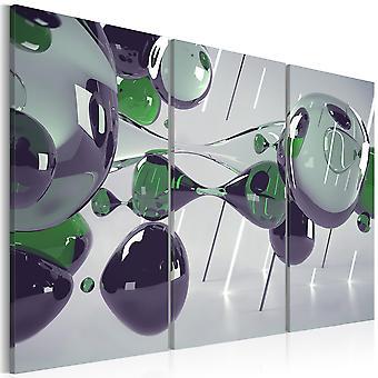 Tríptico de mistificação de vidro da impressão lona Artgeist