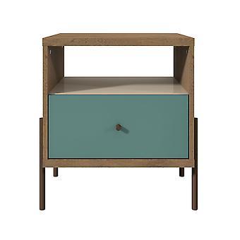 Manhattan comfort  joy 1-full extension drawer nightstand in blue
