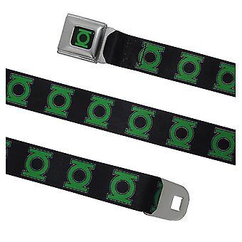 Grön lykta symbol säkerhetsbälte bälte