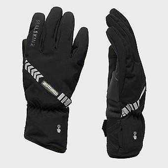 New Sealskinz Unisex Halo All Weather Waterproof Cycling Gloves Black
