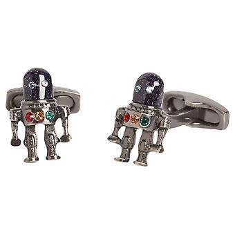 Simon Carter Outer Space Robot Cufflinks - Dark Grey