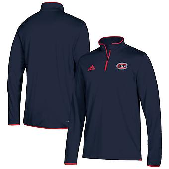 Adidas Nhl Montreal Canadiens Climalite Quarter-zip Pullover Jacket