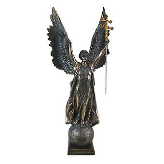 St. Gabriel w/ Cross of Lorraine Statue Bronze Finish