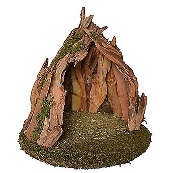 UNIKAT Root Crib 1 Christmas crib Stall Crib syness stall Genuine wood handmade from Bavaria for figures up to 15 cm