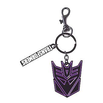 Transformers Keyring Keychain Decepticon Head Logo new Official Black
