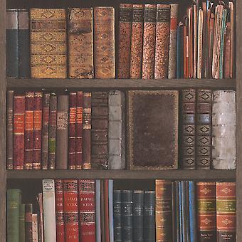 Bibliotheek boeken behang Rasch 934809