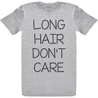 Langt hår Don ' t Care-herre t-shirt