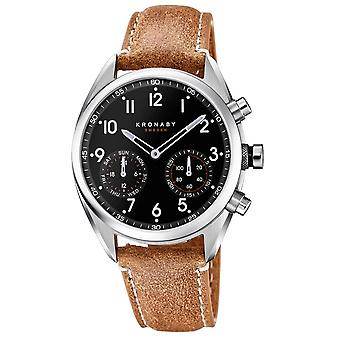 Kronaby S3112-1 Men's Apex Smartwatch Brown Strap