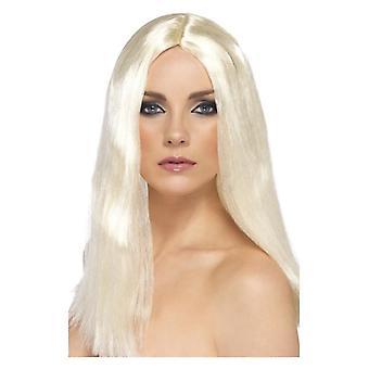 Womens Long blanc Style Star perruque déguisements accessoires