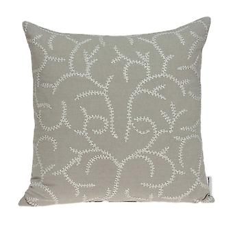 """20"""" x 7"""" x 20"""" Charming Transitional Beige Cotton Pillow Cover With Down Insert"""