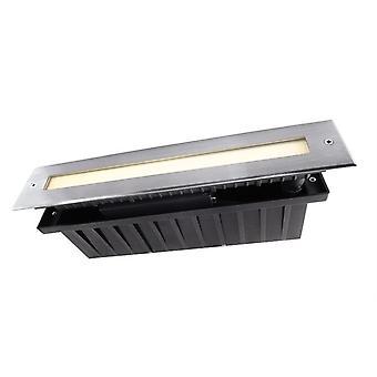 Światło podłogowe LED wpuszczone Linia IV 3.7WW 6W 3000 K 110° 328 mm srebrny IP67