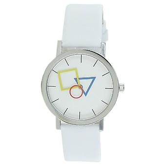 Aristo Bauhaus Unisex Watch Stainless Steel 4D85IW Leather White