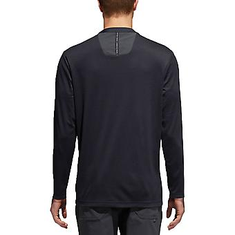 adidas Golf Hombres No-Show Range Henley UPF 30 Quick Drying Sweater