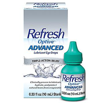 Refresh optive advanced lubricant eye drops, triple-action relief, 10 ml