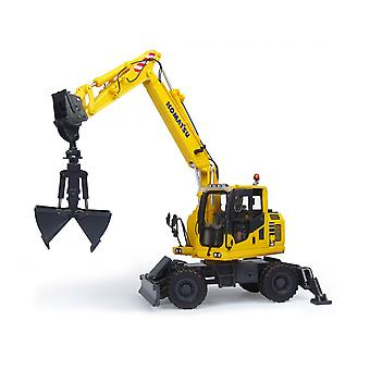 Komatsu PW148-10 with Clamshell Bucket Diecast Model Excavator