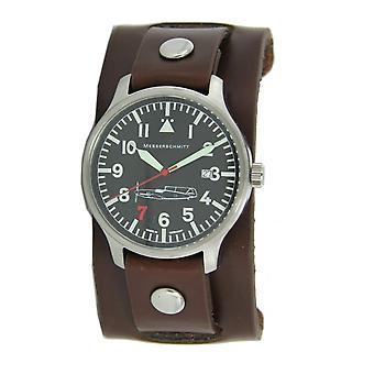 Aristo Men's Messerschmitt Watch Pilot's Watch Under leather Strap 'Red 7' Ref. 109-42R7