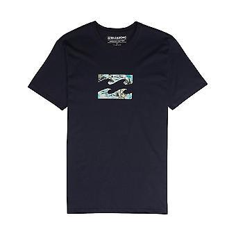 Billabong Team Wave Team Short Sleeve T-Shirt in Navy