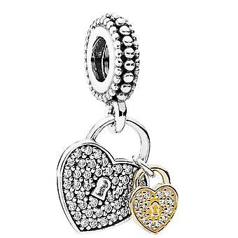 Cerraduras de amor Pandora colgante Charm - 791807CZ