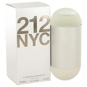 212 Eau de toilette spray (uusi pakkaus) kirjoittanut carolina herrera 414615 100 ml
