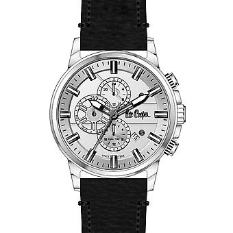 Shows Lee Cooper-LC06655-351 - chronograph leather black case steel money man