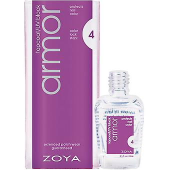 Armadura de Zoya Topcoat, Uv bloque 0.5 Oz