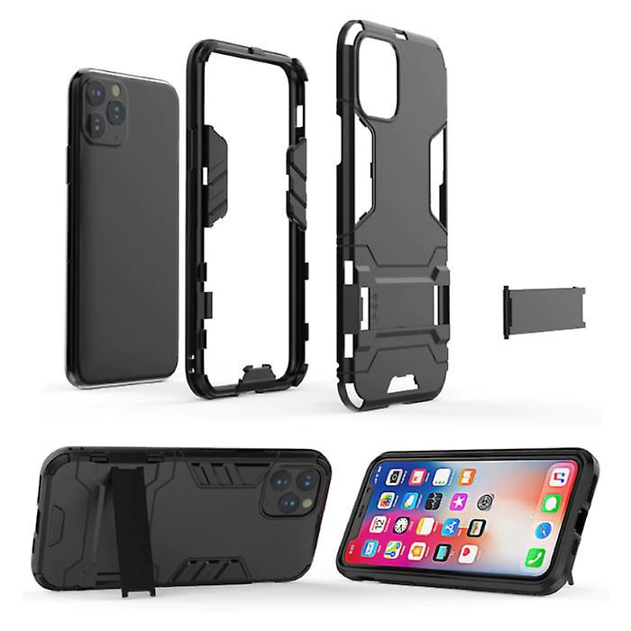 HATOLY iPhone XS - Robotic Armor Case Cover Cas TPU Case Navy + Kickstand