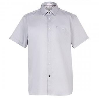 Ted Baker Donald SS Geo Print Shirt Navy