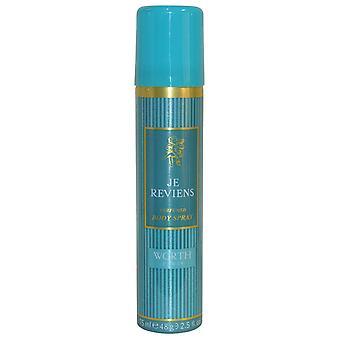 Worth Je Reviens parfumé corps Spray 75ml