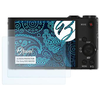 بروني 2x شاشة حامي متوافق مع سوني DSC-WX350 فيلم واقية