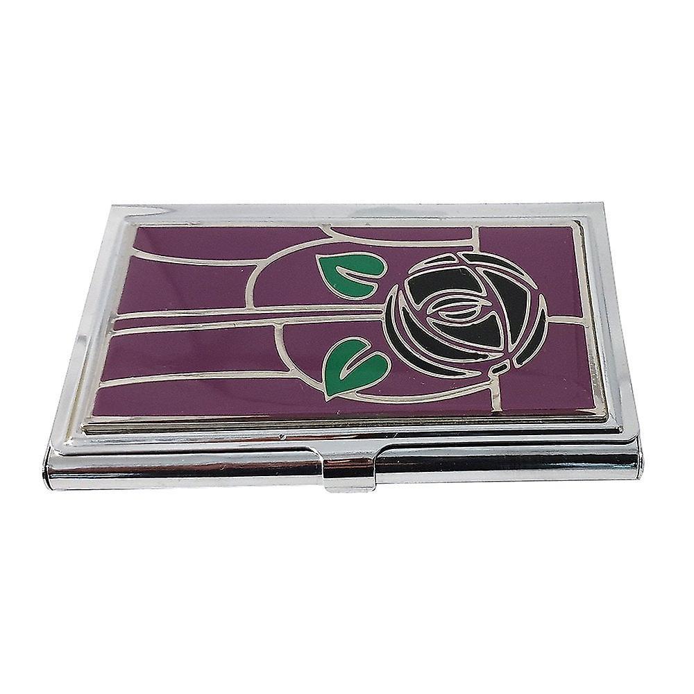 Mackintosh Collection Mackintosh Card Holder Purple Rose