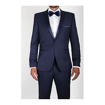 Curved-cut tuxedo jacket