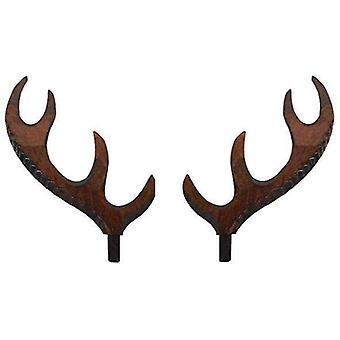 Cuckoo clock wooden deer antlers unfinished or brown 5mm to 120mm