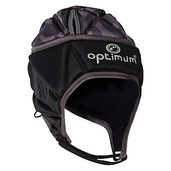 Optimum Razor Adult Rugby Headguard Scrum Cap Black/Silver