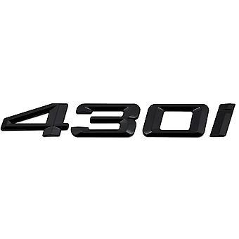 Gloss Black BMW 430i Car Model Rear Boot Number Letter Sticker Decal Badge Emblem For 4 Series F32 F33 F36 G22 G23 G26