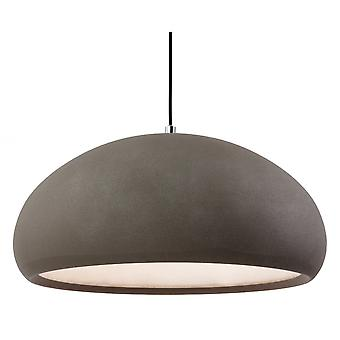 Firstlight Herculean moderne Beton Kuppel Schatten Decke Anhänger Licht Fitting
