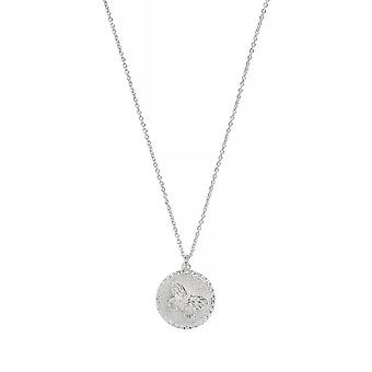 Olivia Burton Watches Obj16mbn03 Butterfly Coin Necklace Silver