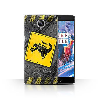 STUFF4 Case/Cover for OnePlus 3/3T/Godzilla/Funny Road Signs