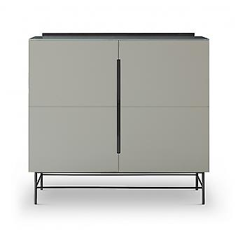 Gillmore Sleek - Contemporary Two Door High Sideboard With Various Colour Options