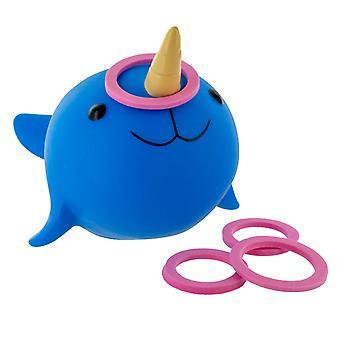 Narwhal Hoopla Bath Floating Underwater Gem Kids Bath Tube Toys Challenge Pool