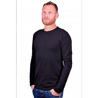 Alan Red Longsleeve stretch round neck Olbia Black