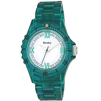 Henley Glamour Turquoise Translucent Sports Watch