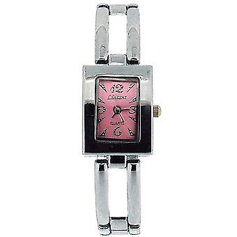Olivia Collection Damen Rechteck Rosa Zifferblatt Armband Armband Uhr COS45