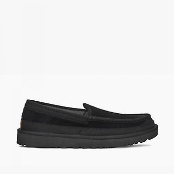 UGG Dex Mens Suede Loafers Black