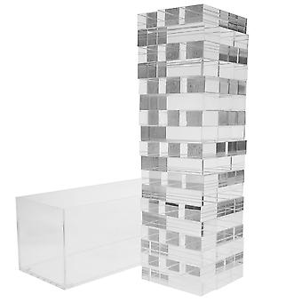 OnDisplay 3D Luxe Acrylic Stacking Tower Puzzle Game, Clear