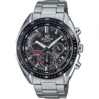 Casio Edifice Quartz Black Dial Silver Stainless Steel Bracelet Men's Watch EFR-570DB-1AVUEF