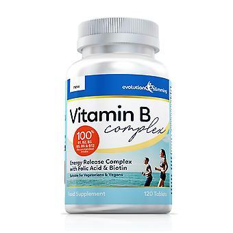 Vitamin B Komplexe Tabletten, 100% RDA, geeignet für Vegetarier und Veganer - 360 Tabletten - Antioxidans - Evolution Abnehmen