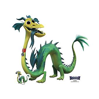 Blazey Dragon de Onward Official Lifesize Carton Découpe / Standee