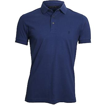 Franse Connection Classic Jersey Polo Shirt, Frans Blauw