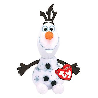 "Disney Frozen Olaf TY Beanie 8"" Plush Toy with Sound"