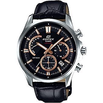 CASIO klocka chronograph quartz herrklocka med läder EFB-550L-1AVUER
